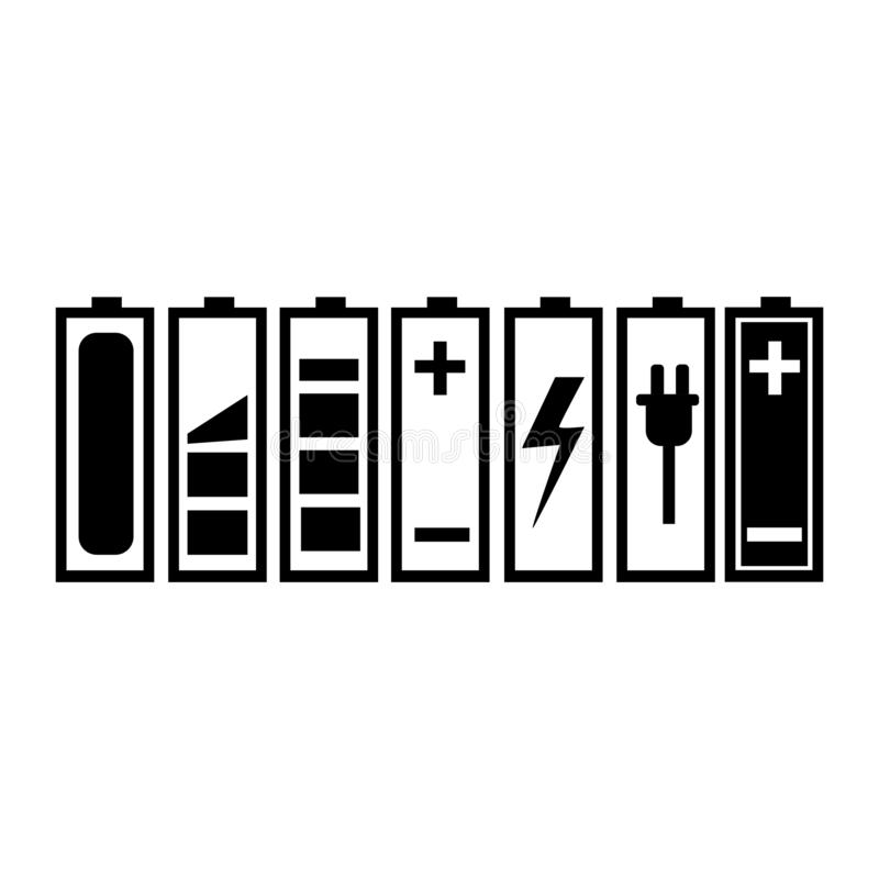 Batterijlast stock illustratie
