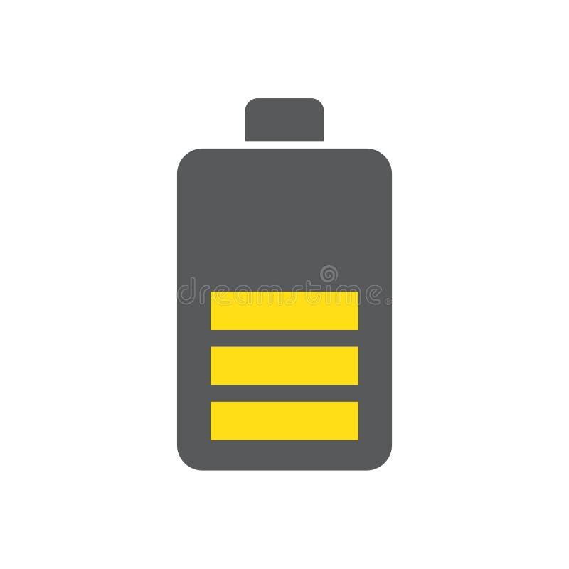 Batterijpictogram op witte achtergrond voor grafisch en Webontwerp, Modern eenvoudig vectorteken Het concept van Internet In symb stock illustratie
