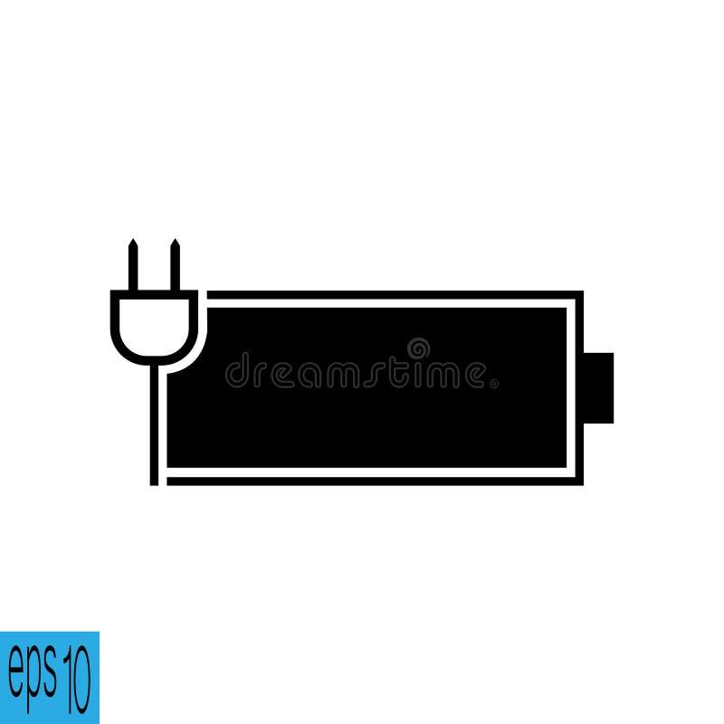 Batterijpictogram - vectorillustratie stock illustratie