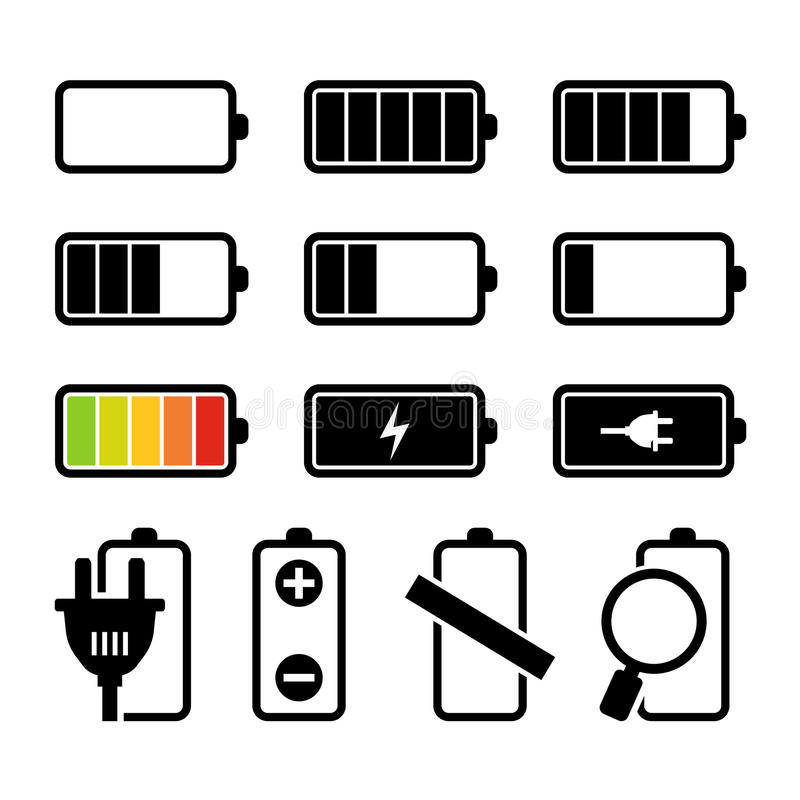 Batterijreeks vector illustratie