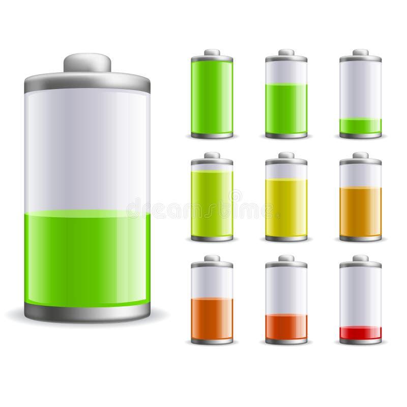 batteriladdning royaltyfri illustrationer