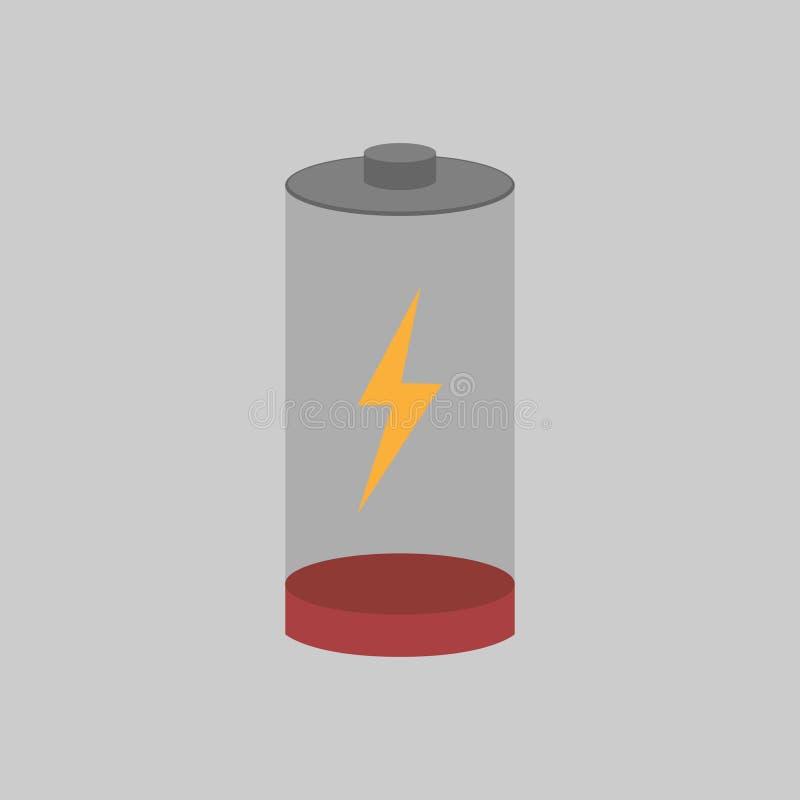Batteriladdning med dess nivå som ses på royaltyfri illustrationer