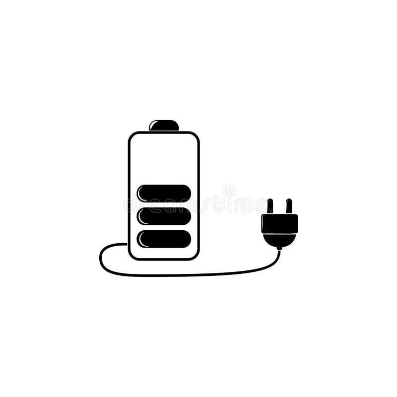 Batteriladdningssymbol Den detaljerade symbolen av ekologi undertecknar symbolen Högvärdig kvalitets- grafisk design En av samlin vektor illustrationer