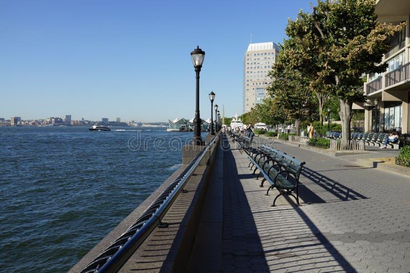 BatteriPark City promenad 1 royaltyfri fotografi