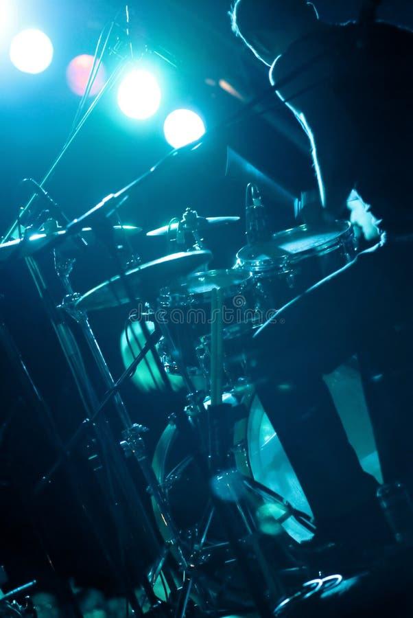 Batterista da backstage fotografie stock libere da diritti