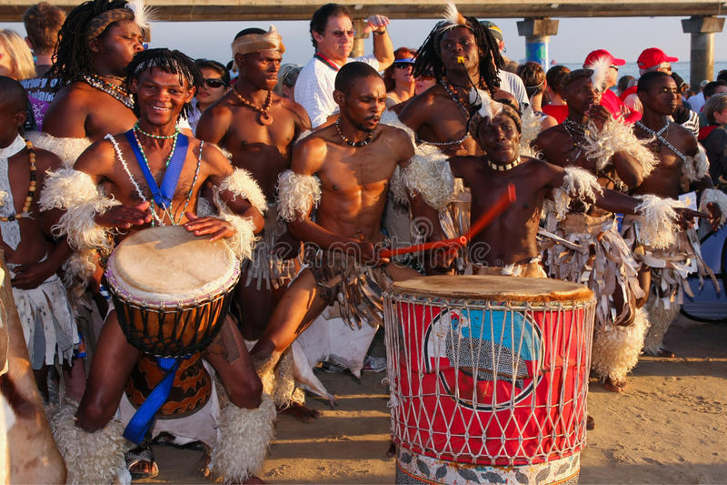 Batteristi africani fotografia stock