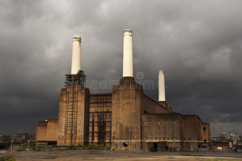 battersea伦敦发电站 免版税库存照片