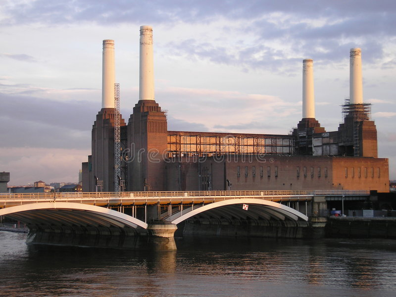battersea发电站 免版税图库摄影