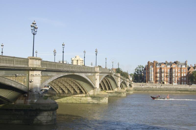Download Battersea Bridge, London stock image. Image of iron, green - 27129971