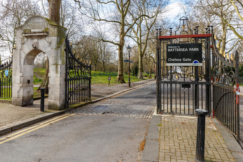 Battersea park in Chelsea, Thames. London royalty free stock photos