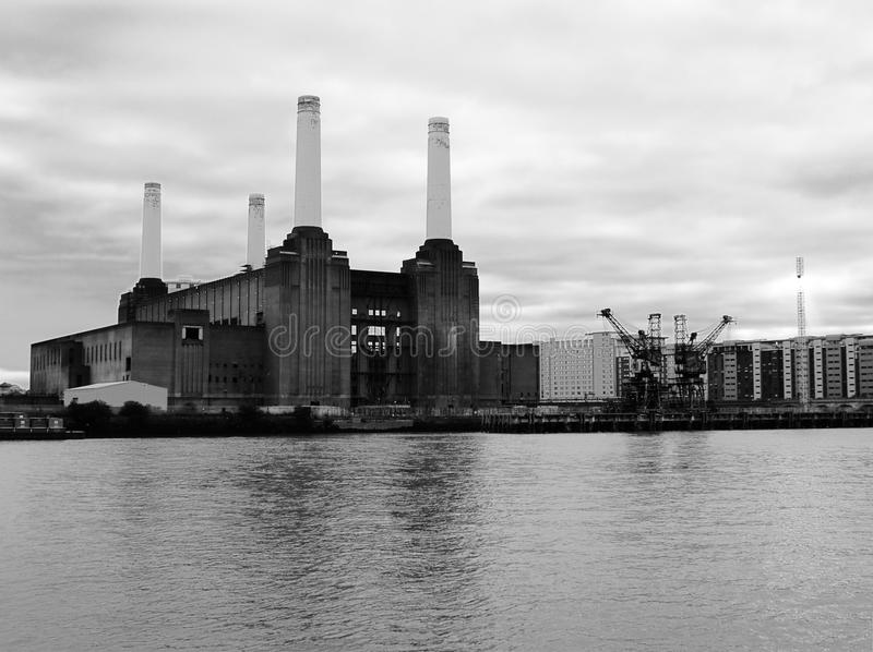 Battersea power plant stock photo