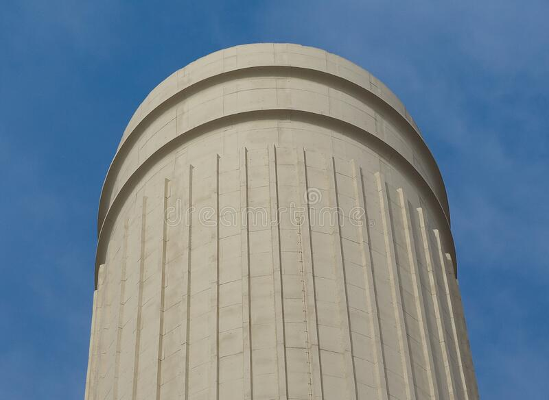 Battersea Power Station chimney in London stock photos
