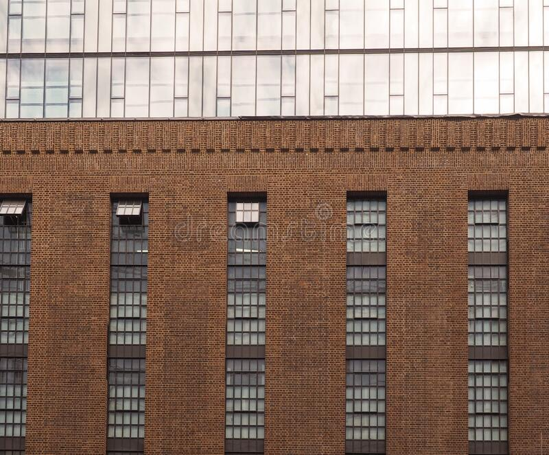 Battersea Power Station in London stock photo