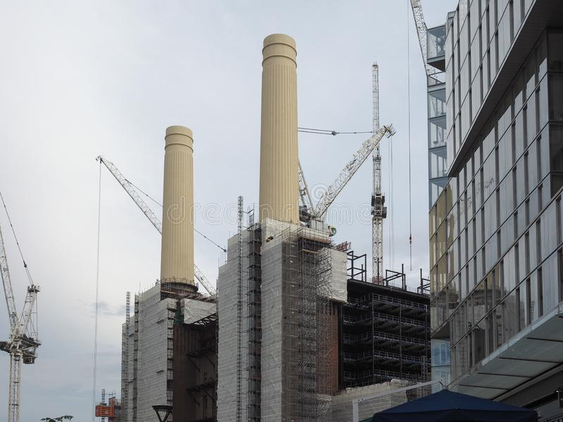 Battersea Power Station redevelopment in London. LONDON, UK - CIRCA JUNE 2019: Battersea Power Station redevelopment building site stock image