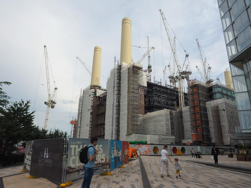 Battersea Power Station redevelopment in London. LONDON, UK - CIRCA JUNE 2019: Battersea Power Station redevelopment building site stock photo