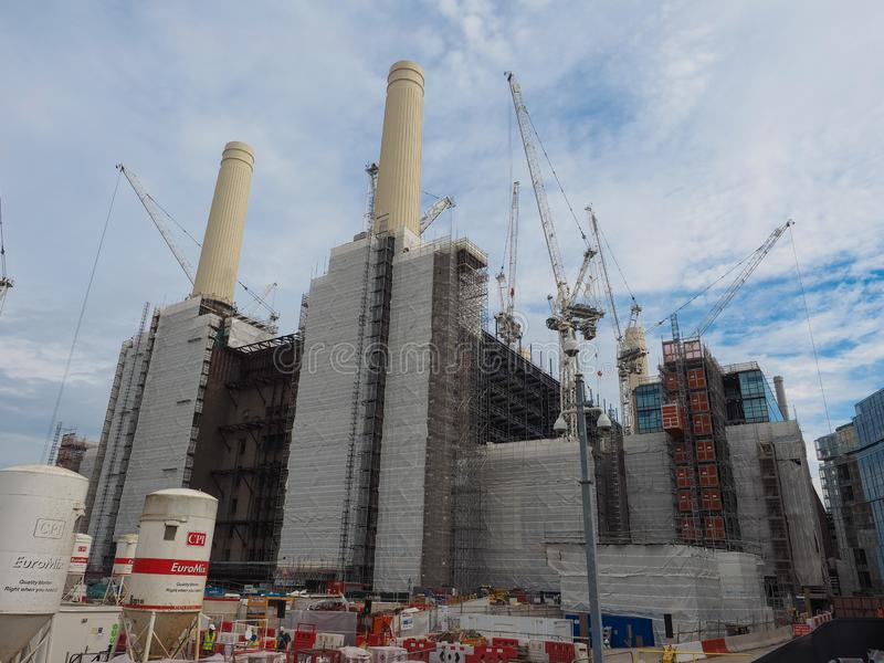 Battersea Power Station redevelopment in London. LONDON, UK - CIRCA JUNE 2019: Battersea Power Station redevelopment building site royalty free stock photo
