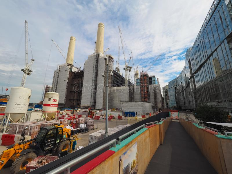 Battersea Power Station redevelopment in London. LONDON, UK - CIRCA JUNE 2019: Battersea Power Station redevelopment building site stock photos