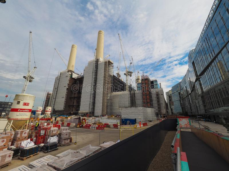 Battersea Power Station redevelopment in London. LONDON, UK - CIRCA JUNE 2019: Battersea Power Station redevelopment building site royalty free stock images
