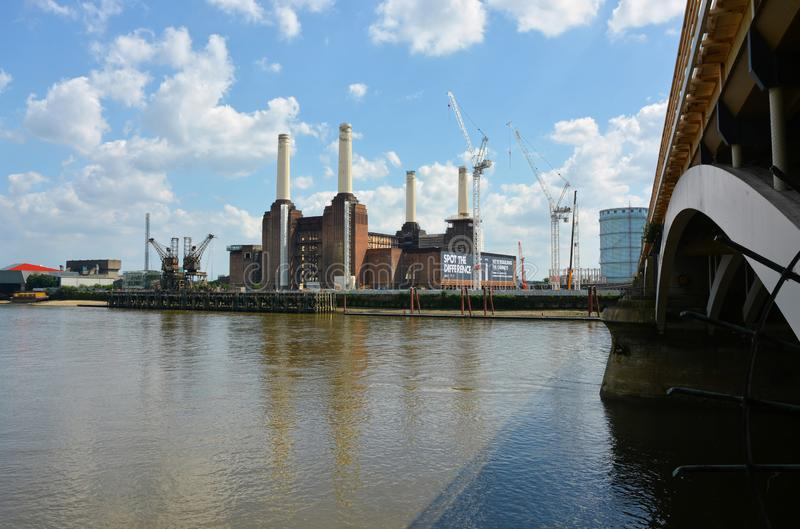 Battersea Power Station redevelopment project. London. The redevelopment of the iconic Battersea Power Station site on the banks of the River Thames is set to be stock photo