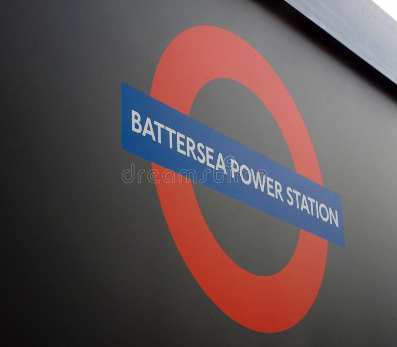 Battersea Power Station tube station in London royalty free stock images