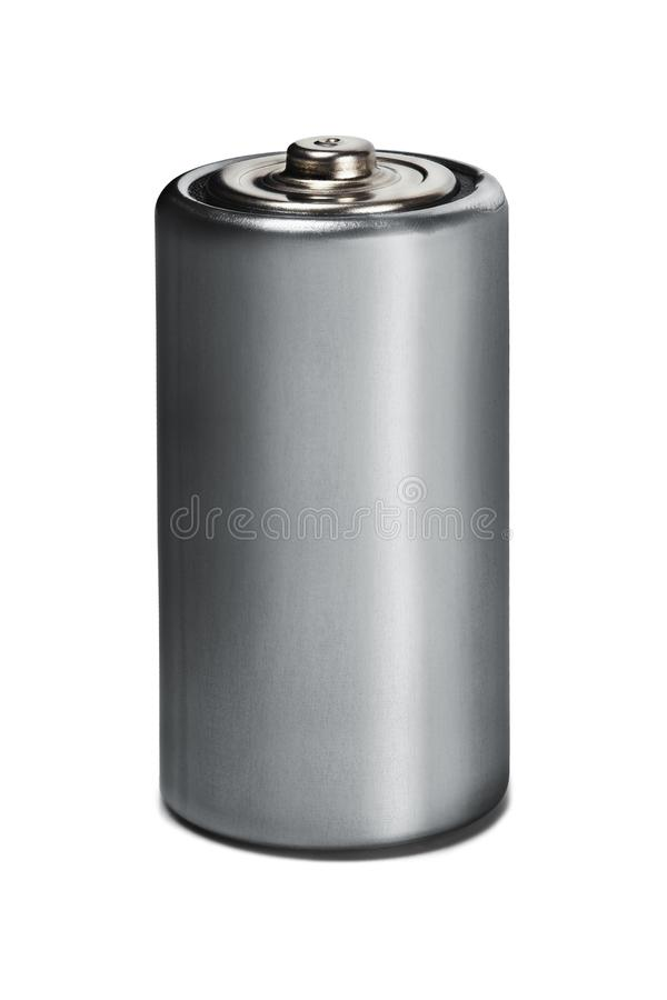 Battery Ð¡ on white isolated background. Concept of renewable energy and sources of electrical power. Pattern for designer of envi. Ronmental power sources royalty free stock photos