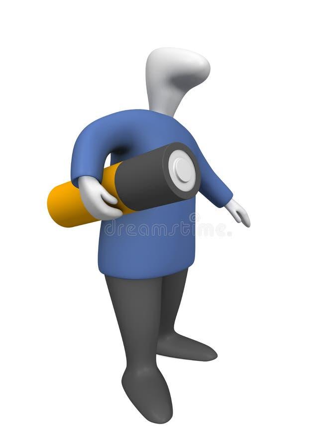 Download Battery stock illustration. Illustration of manual, worker - 10760605