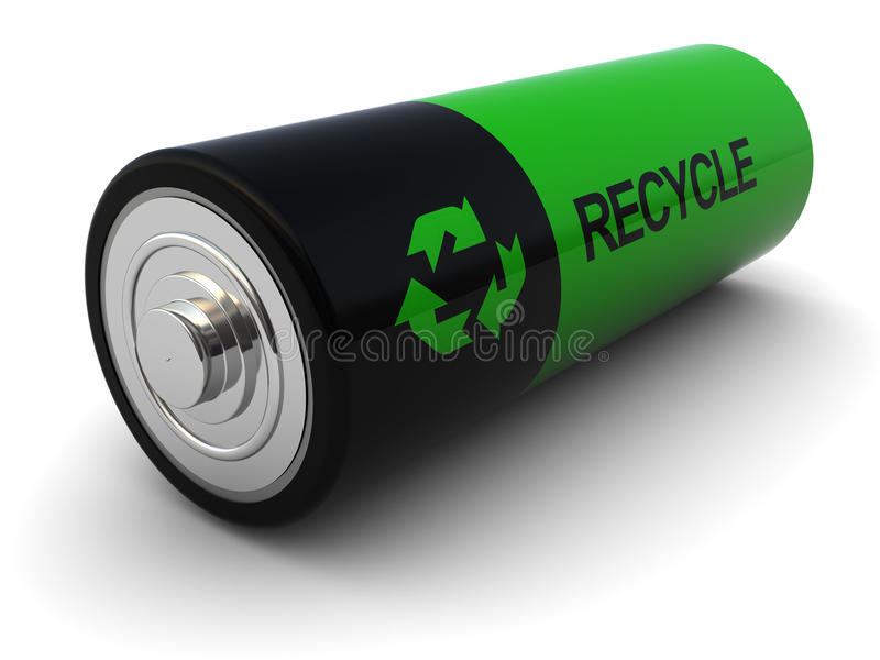 Download Battery stock illustration. Illustration of closeup, green - 13428990