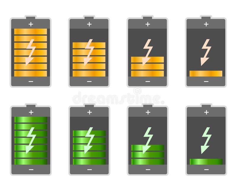 Download Battery stock vector. Image of electrical, graphic, electricity - 24662629