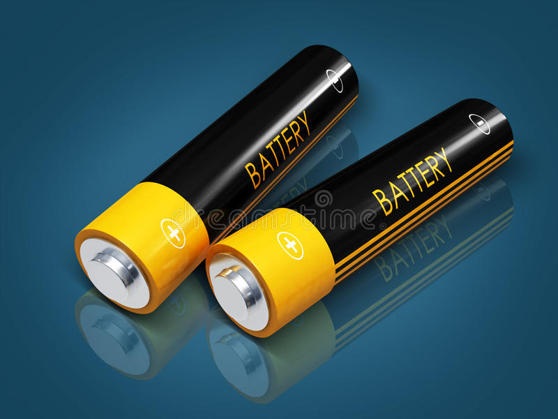 Download Battery stock illustration. Image of fuel, multicolored - 25791057