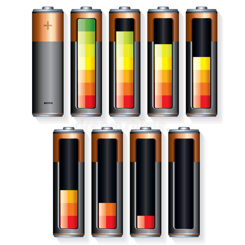 Download Battery stock vector. Image of electricity, empty, energy - 26397457