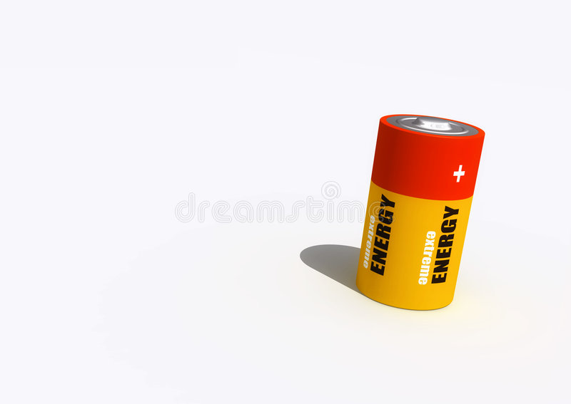 Battery. A 3d battery render royalty free stock image