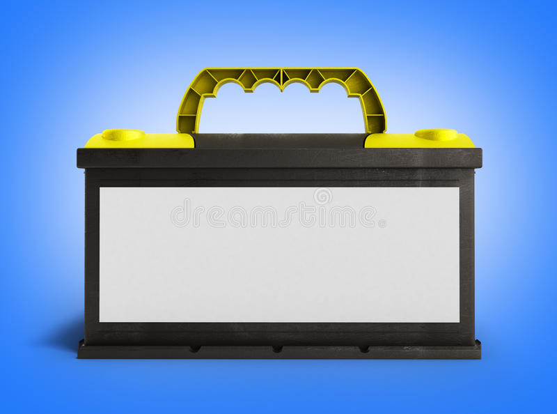 Battery batteries accumulator car auto parts electrical supply. Power 3d render on gradient vector illustration