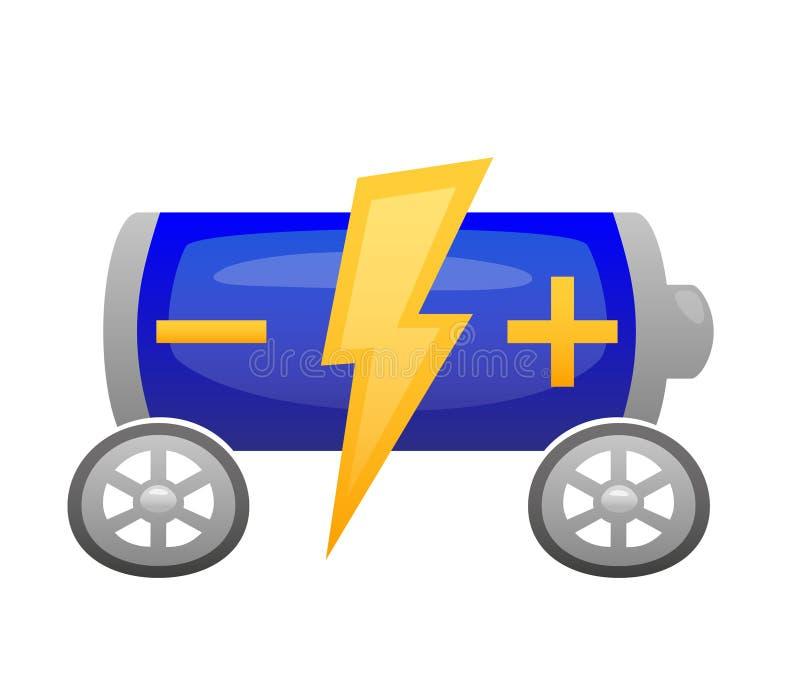 Battery car illustration stock