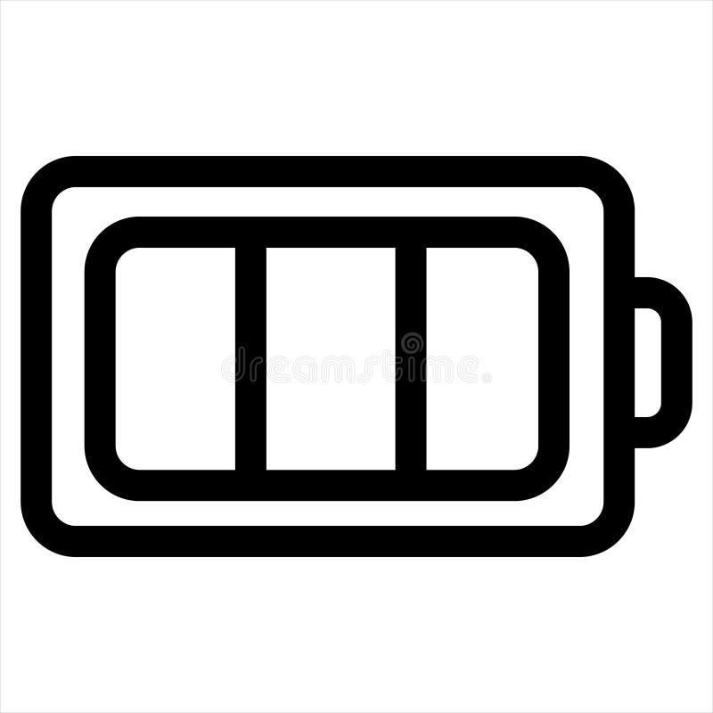 Battery, charge, ecology, energy, full icon stock illustration