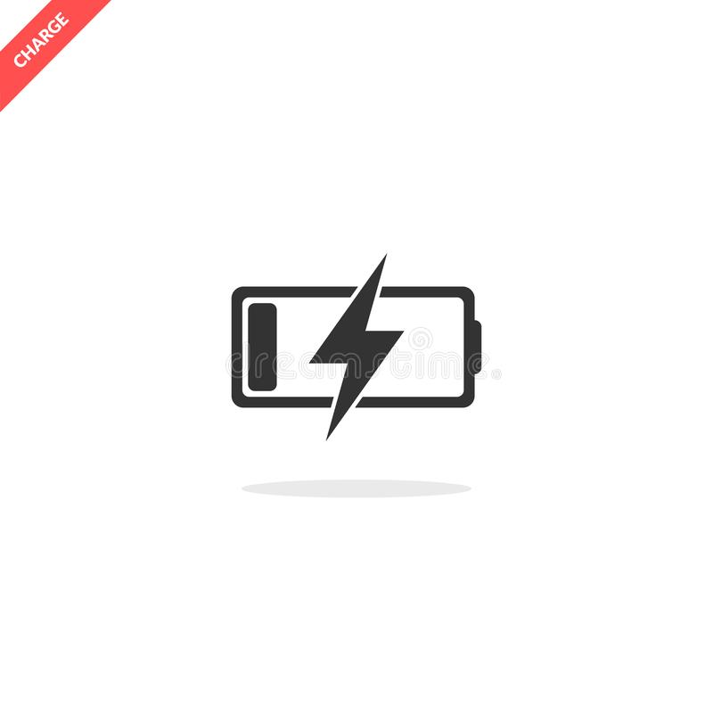 Battery charge icon stock image