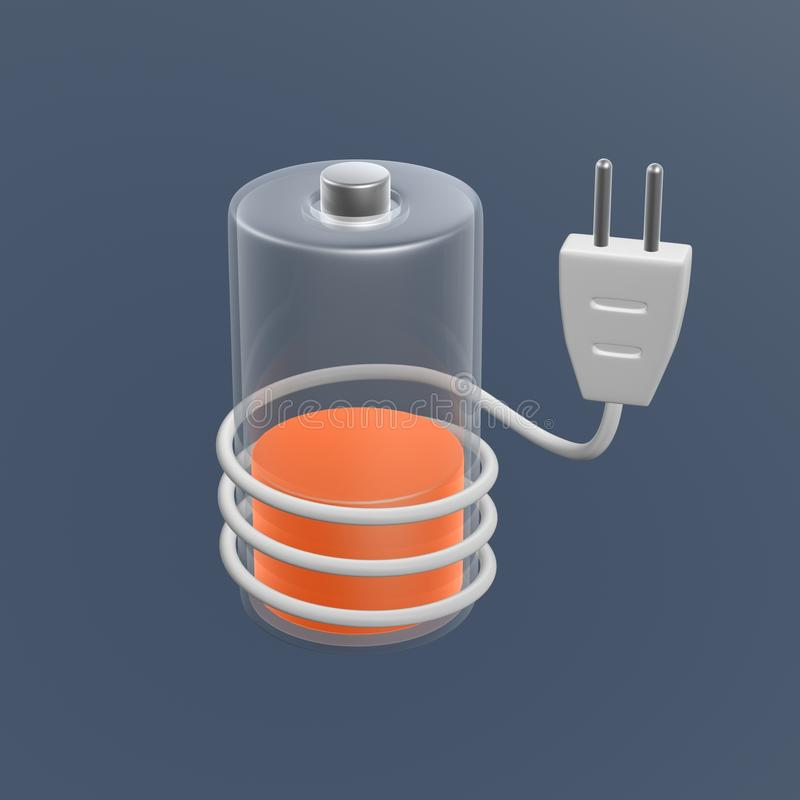 Battery Charge With Plug Stock Image