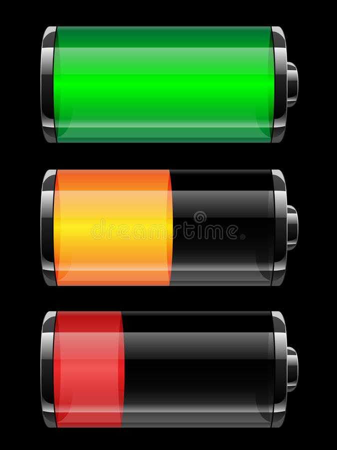 Download Battery charge status stock vector. Image of performance - 29014308