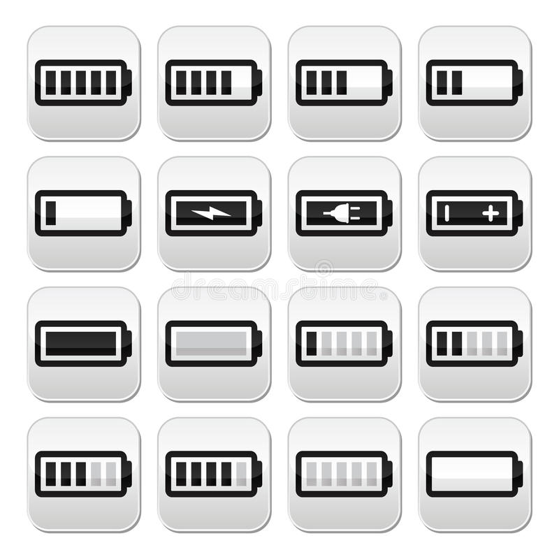 Windows 8 1 Set Battery Charge Level : Battery charge vector buttons set royalty free stock