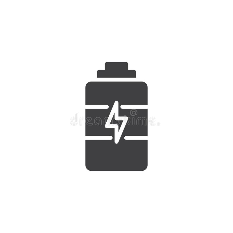 Battery charge vector icon royalty free illustration