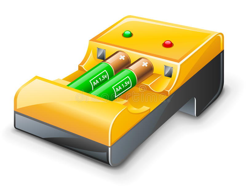 Download Battery charger stock vector. Image of side, electronics - 22763039