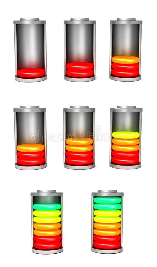 Download Battery Charges Set stock illustration. Image of yellow - 26569190