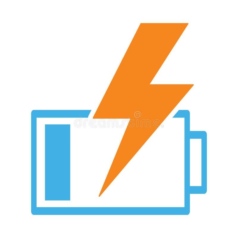 Battery Charging Icon On White Background Stock Illustration ...