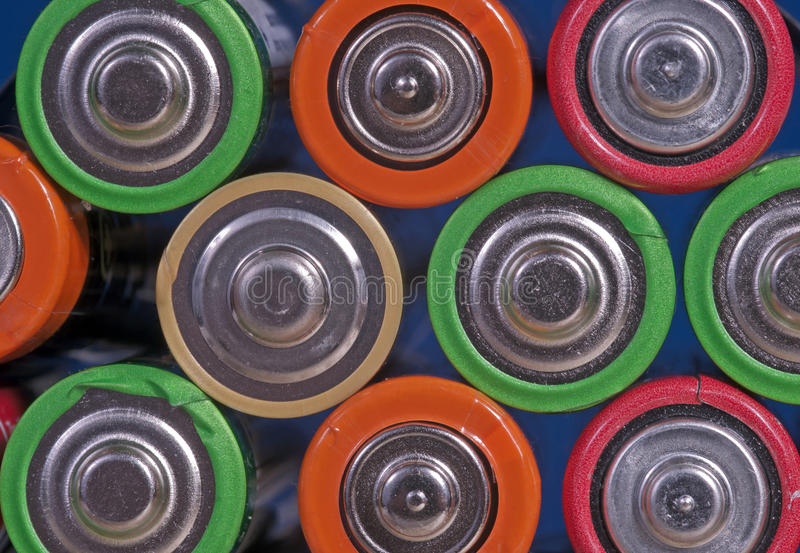 Battery Cluster Royalty Free Stock Photos