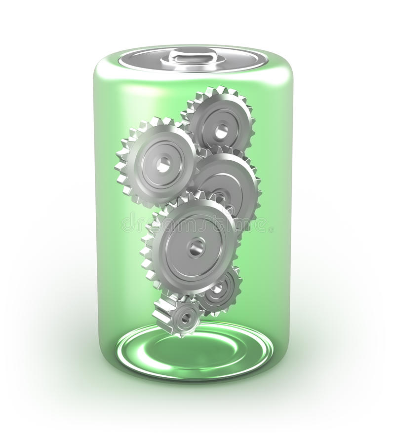 Battery concept with cogs