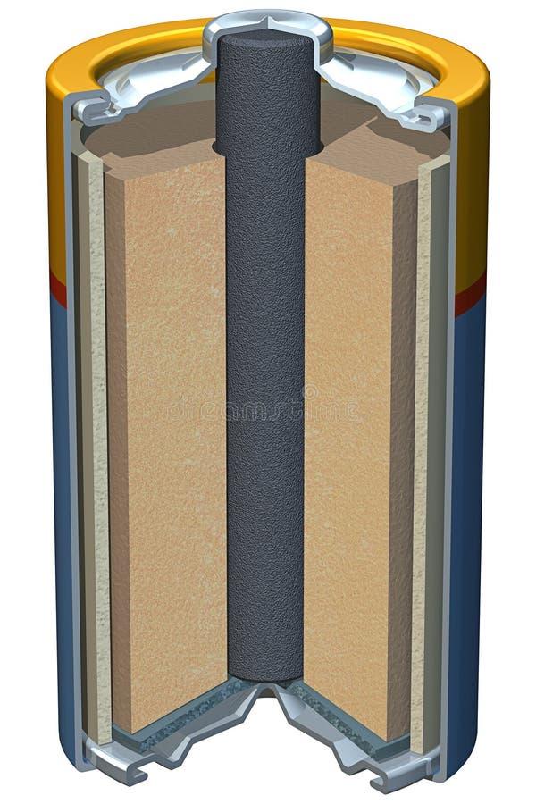 Battery Cutaway royalty free illustration