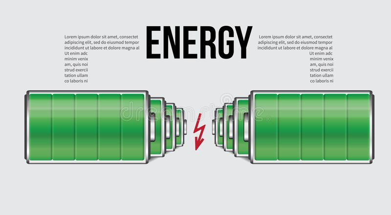 Battery Element Infographic Template. Design Concept For