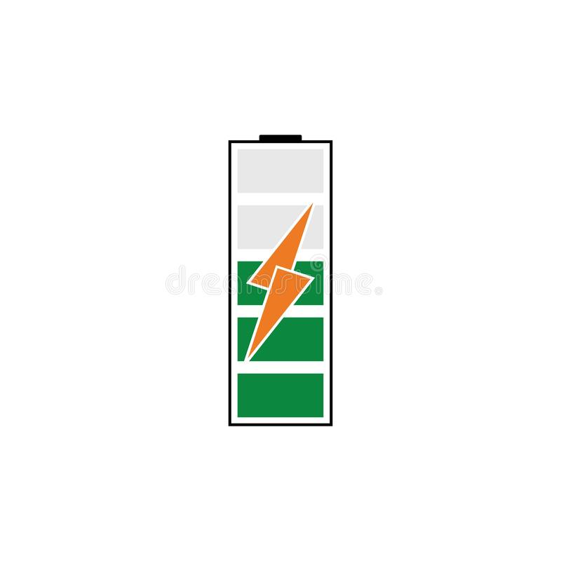 Battery Energy Vector Logo Template. Icon, power, illustration, solar, electric, electricity, symbol, icons, design, background, technology, charge, set stock illustration