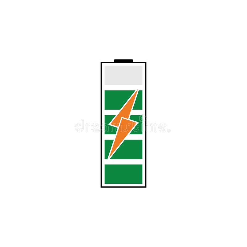 Battery Energy Vector Logo Template. Icon, power, illustration, solar, electric, electricity, symbol, icons, design, background, technology, charge, set royalty free illustration