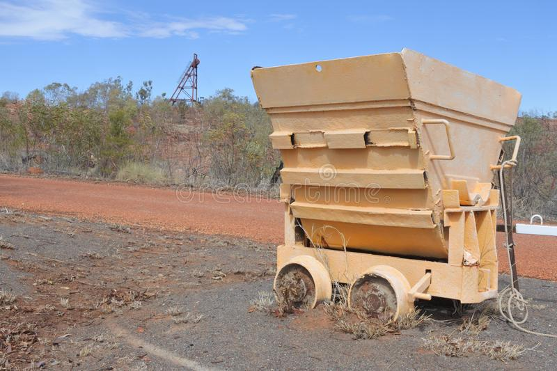 Battery Hill Mining in Tennant Creek Northern Territory Australia. Abandoned Mining car in Battery Hill Mining in Tennant Creek Northern Territory Australia stock photo