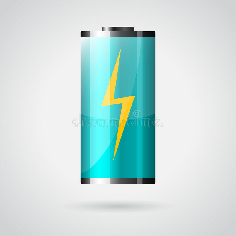 Download Battery icon stock vector. Illustration of full, electricity - 32034318